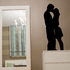 Valentines Day Lovers Kissing Decal