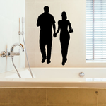 Valentines Day Lovers Holding Hands Decal