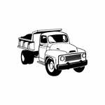 Old Fashioned Dump Truck Decal