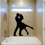 Valentines Day Lovers Dance Embrace Decal