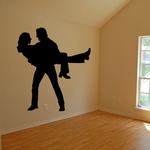 Valentines Day Lovers Carrying Decal