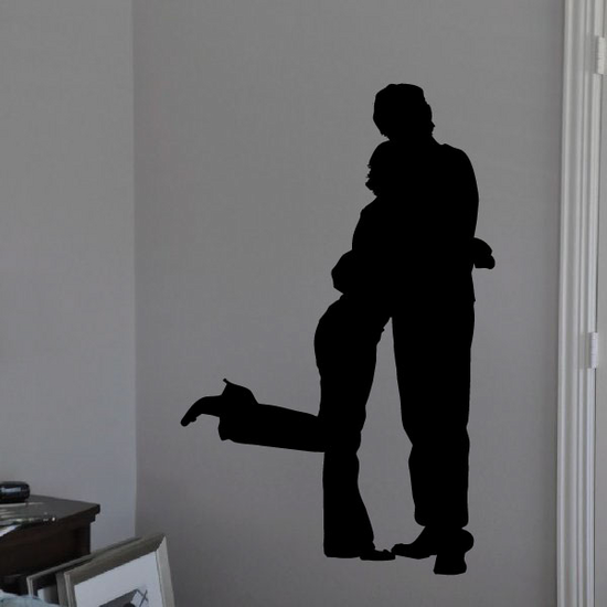Valentines Day Lovers Hugging Decal
