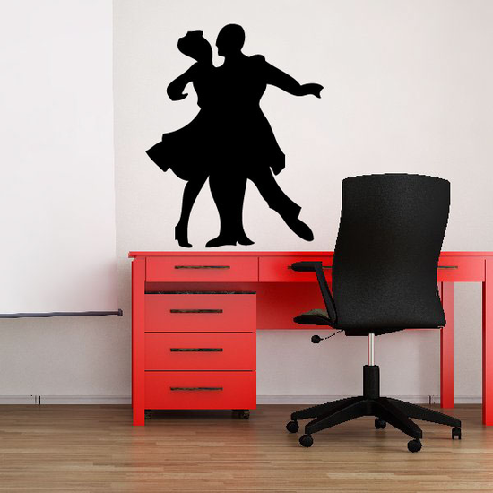Valentines Day Lovers Dancing Couple Decal