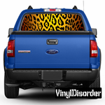 Animal Print Leopard Rear Window View Through Graphic Og002