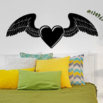 Valentines Day Heart with Wings Decal