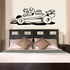 Indy Car Racer Cartoon Decal