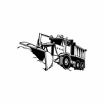 Dump Truck with Plow Decal
