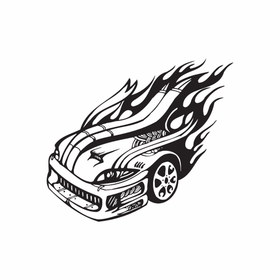 Viper Front End In flames Decal