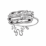 Hamburger on a plate Decal