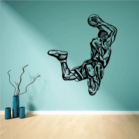 Detailed Slam Dunk Basketball Player Decal