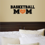 Basketball Mom Heart Decal