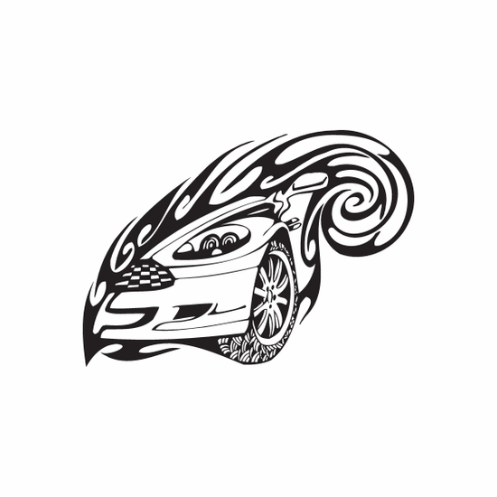 Aston Martin Flames Wrap Decal