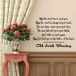 May the road rise to meet you Old Irish blessing Wall Decal