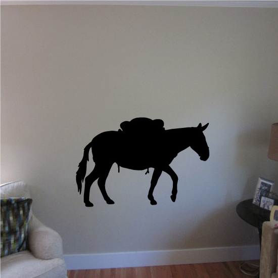 Walking Saddled Horse Decal