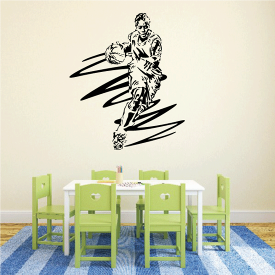 Basketball Wall Decal - Vinyl Decal - Car Decal - CDS134