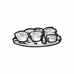 Sushi on a plate Decal