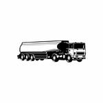 Detailed Tanker Truck Decal