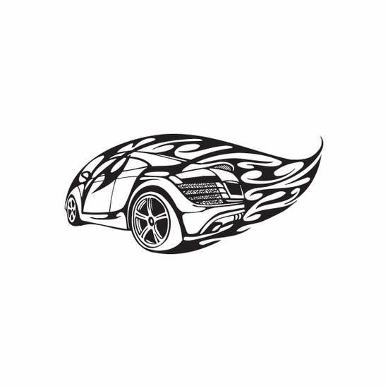 Audi R8 Flames Decal