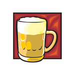 Cold Glass of Beer Sticker
