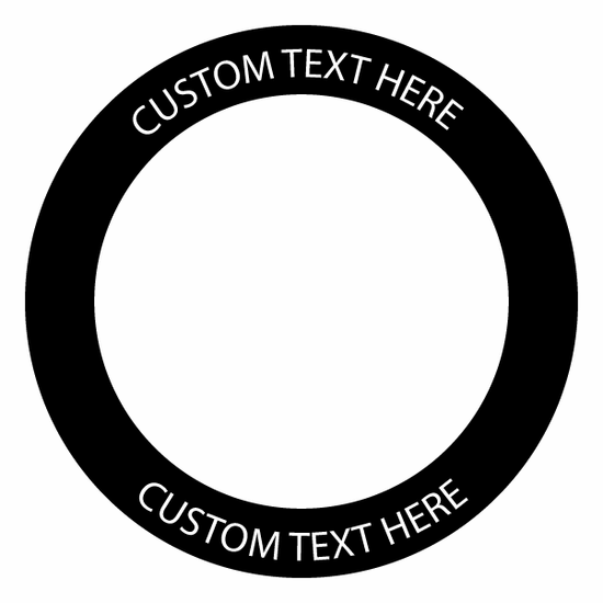 "Cornhole board circle decal with custom text - 8"" circle"