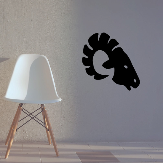 Side Ram Head Silhouette Decal