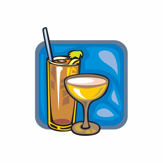 Bloody Mary and Martini Sticker