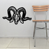 Carved Style Ram Head Decal
