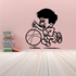 Basketball Young Boy Dribbling Decal