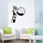 Volleyball Wall Decal - Vinyl Decal - Car Decal - Bl009