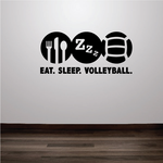 Eat. Sleep. Volleyball. Volleyball Wall Decal - Vinyl Decal - Car Decal - Vd001