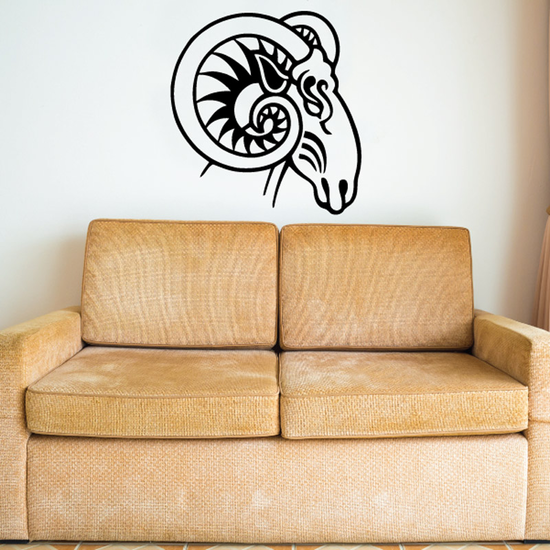 Mystical Ram Head Decal