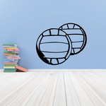 Volleyball Wall Decal - Vinyl Decal - Car Decal - CDS037