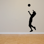 Volleyball Wall Decal - Vinyl Decal - Car Decal - 001
