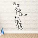 Volleyball Wall Decal - Vinyl Decal - Car Decal - CDS031