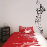 Volleyball Wall Decal - Vinyl Decal - Car Decal - CDS084