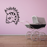 Skull Mohawk Wall Decal - Vinyl Decal - Car Decal - CF249