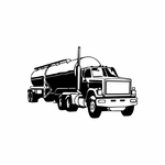 Driving Tanker Truck Decal