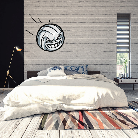 Flying Volleyball Wall Decal - Vinyl Car Sticker - Uscolor001