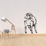 Turning Head Ram Decal