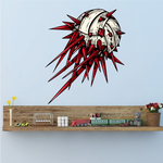 Spiked Volleyball Wall Decal - Vinyl Car Sticker - Uscolor005