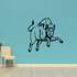 Leaping Charging Bull Decal