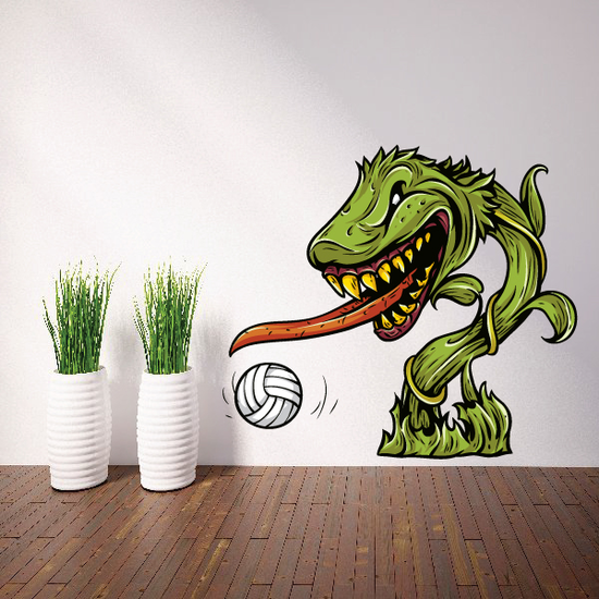 Dragon Volleyball Wall Decal - Vinyl Car Sticker - Uscolor006