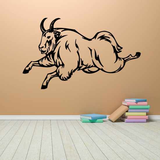 Leaping Mountain Goat Decal