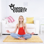Queen Of The Court Volleyball Wall Decal - Vinyl Decal - Car Decal - Vd010
