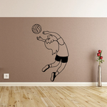Set Block Vollyball Wall Decal - Vinyl Decal - Car Decal - MC001
