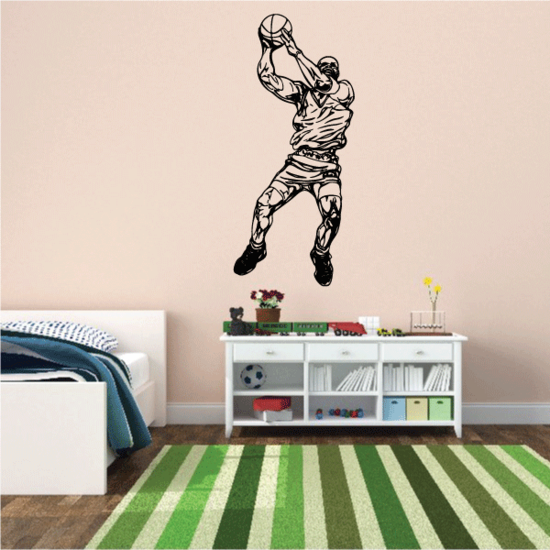 Basketball Wall Decal - Vinyl Decal - Car Decal - CDS084
