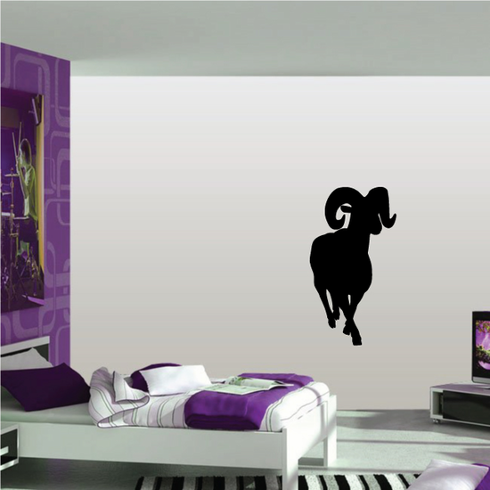 Strolling Ram Silhouette Decal