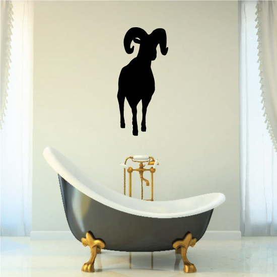 Ram Staring Silhouette Decal