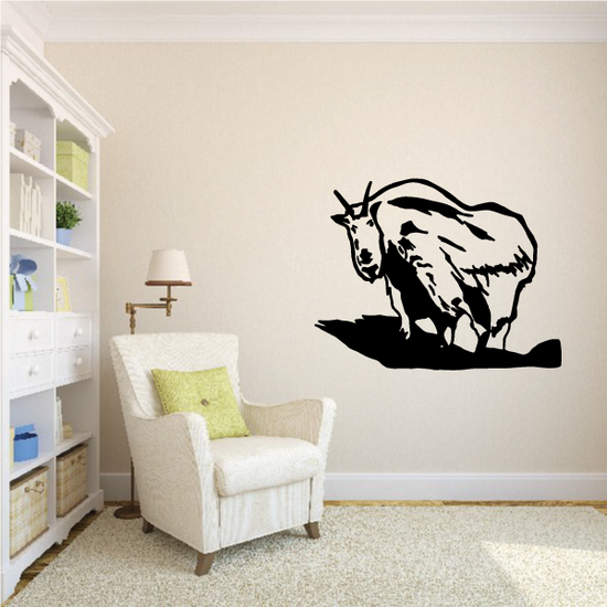 Mountain Goat Looking Decal