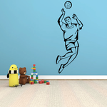 Volleyball Wall Decal - Vinyl Decal - Car Decal - SM006
